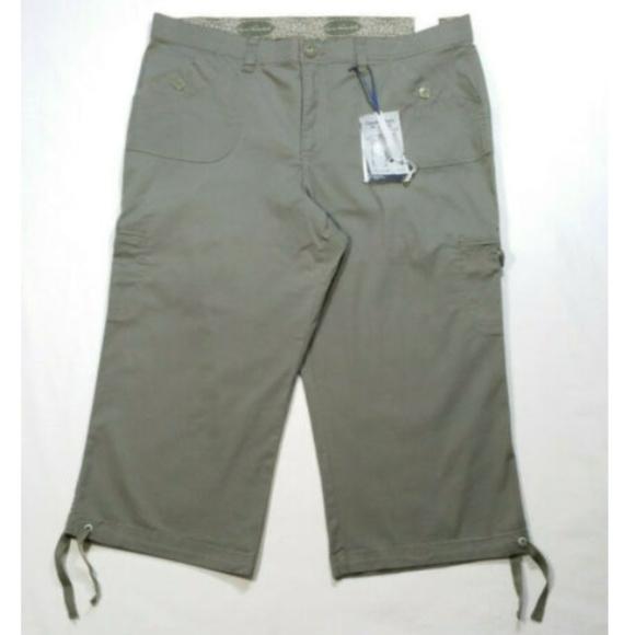 Gloria Vanderbilt Pants - GLORIA VANDERBILT Anya Capri Cargo Pants 2249E1